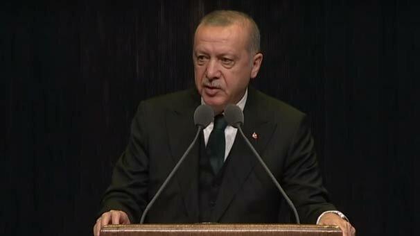 Erdoğan: Türk tarihini daracık bir tarihe hapsetmek isteyen kısır bir anlayış türetilmiştir
