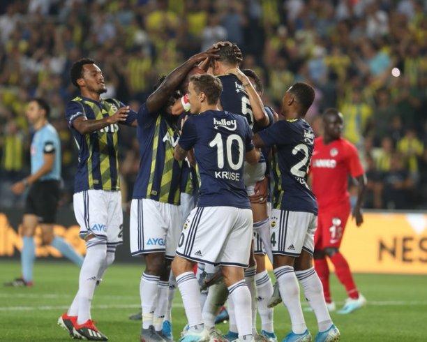 Fenerbahçe, Gazişehir Gaziantep'i 5-0 yendi