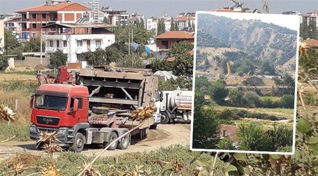 Hacıbektaşlı'da jandarma gözetiminde santral kurulmaya başlandı