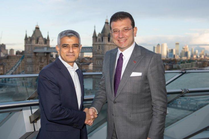 İBB Başkanı İmamoğlu'ndan Londra belediye başkanı Sadıq Khan'a ziyaret