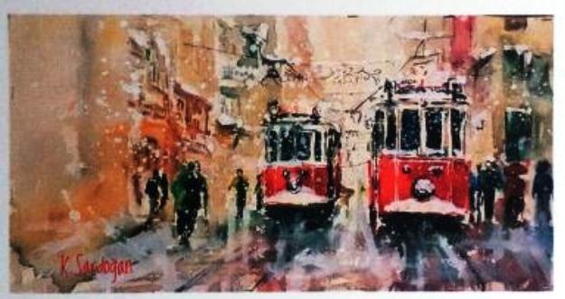 Kadriyegül Sardoğan'dan ''Kırmızı'' suluboya resim sergisi