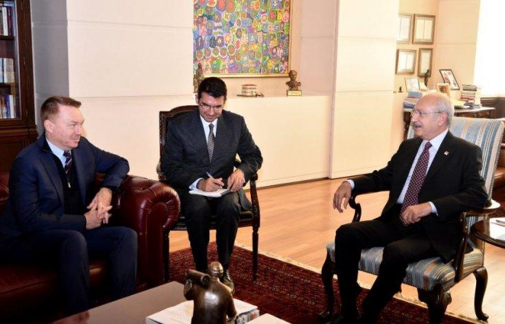 Kılıçdaroğlu, Avustralya'nın Türkiye büyükelçisi ile bir araya geldi