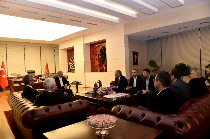 Kılıçdaroğlu sendika başkanları ile görüştü