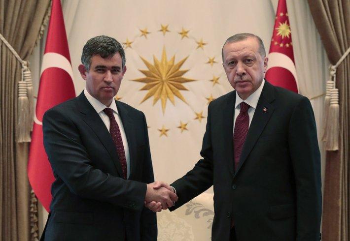 Metin Feyzioğlu, Erdoğan'ı Beştepe'de ziyaret etti