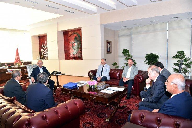 Sendika başkanlarından Kılıçdaroğlu'na ziyaret