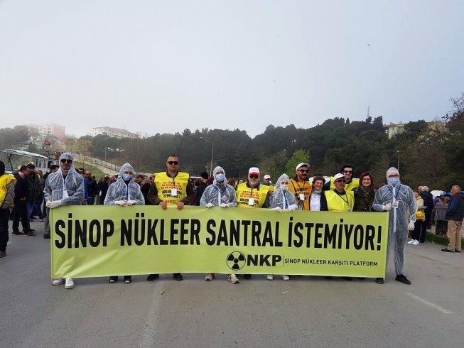 Sinoplular Çernobil'in 33. yılında bir araya geldi: 'Nükleer santral istemiyoruz!'