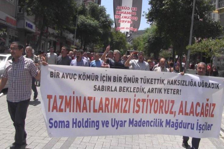 Soma madencileri Ankara'ya yürümeye hazırlanıyor