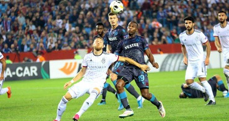 Trabzonspor, Basel ile 2-2 berabere kaldı