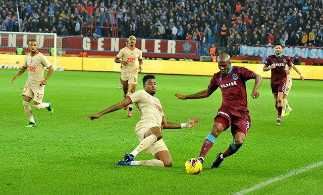 Trabzonspor ile Galatasaray 1-1 berabere kaldı