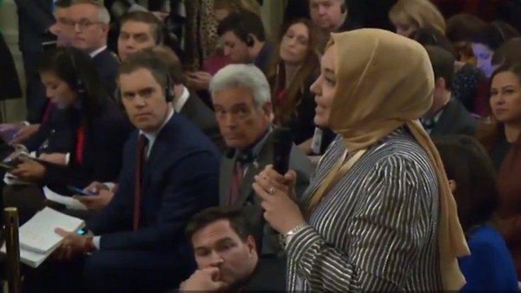 Trump'ın 'Gazeteci olduğunuza emin misiniz?' diye sorduğu Hilal Kaplan'dan açıklama: Sadece basit bir espriydi