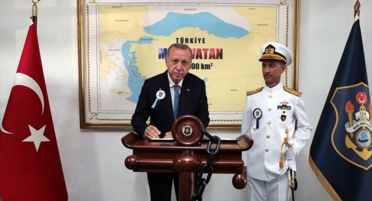 Yunanistan'dan Erdoğan'a harita tepkisi