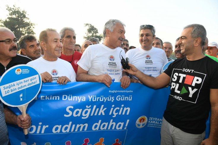 Zeydan Karalar, Dünya Yürüyüş Günü'nde halkla bir arada