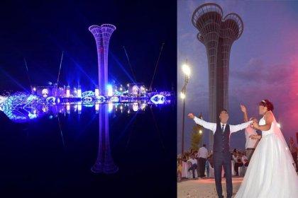 1 milyar 720 milyon liralık yatırımla hayata geçirilen EXPO 2016'yı düğün salonuna çevirdiler!
