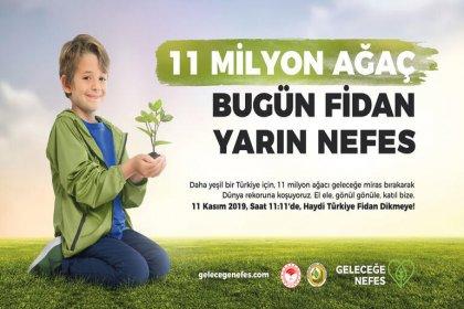 11 Kasım'da Türkiye genelinde 11 milyon fidan dikilecek