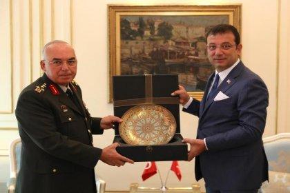 1'nci Ordu Komutanı'ndan Ekrem İmamoğlu'na tebrik ziyareti