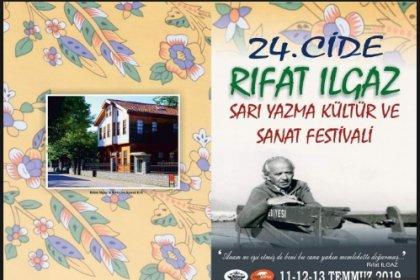 24. Cide Rıfat Ilgaz Sarı Yazma Kültür ve Sanat Festivali 11 Temmuz'da başlıyor