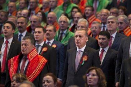 52 baronun katılmayacağını açıkladığı adli yıl açılışı bugün Beştepe'de yapıyor