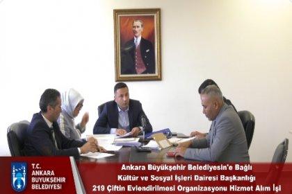 Ankara Büyükşehir Belediyesi 'Evlendirme hizmeti' ihalesini canlı yayımladı