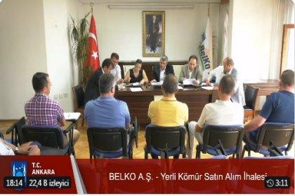 """Ankara Büyükşehir Belediyesi """"Yerli kömür satın alım"""" ihalesini canlı yayımladı"""
