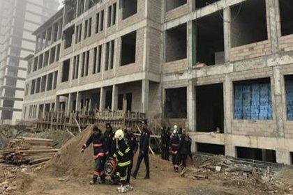 Ankara'da okul inşaatında iskele çöktü: 1 ölü, 1 yaralı