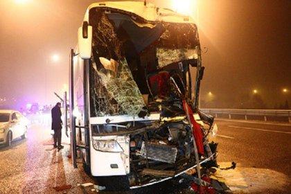 Ankara'da yolcu otobüsü, otomobil ve TIR'a çarptı: 9 yaralı