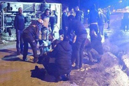 Ankaragücü taraftar otobüsü kaza yaptı: 2 kişi hayatını kaybetti