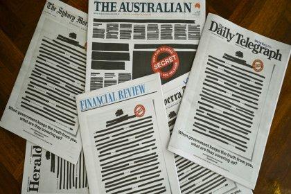 Avustralya'da hükümetin 'ulusal güvenliği' gerekçe göstererek basın özgürlüğünde kısıtlamaya gitmesine bütün gazetelerden ortak tepki