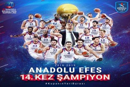 Basketbol'da şampiyon Anadolu Efes!