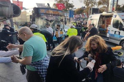 Beşiktaş'ta otobüs durağa daldı: Çok sayıda yaralı var
