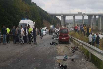 Beykoz'da zincirleme kaza: 1 ölü, 2 yaralı