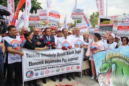 Birleşik Kamu-İş hükümetin zam teklifini protesto etti