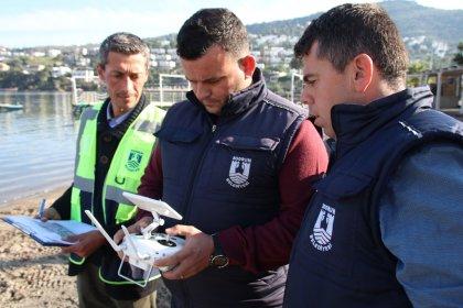 Bodrum Belediyesi imara aykırılıkları drone ile tespit ediyor