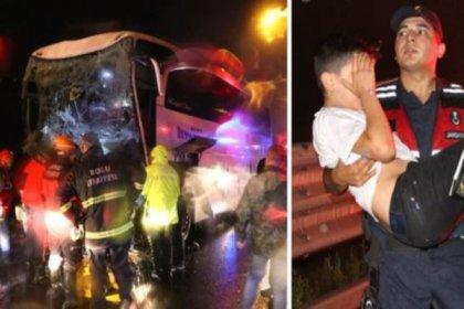 Bolu Dağı'nda otobüs kazası: 37 yaralı var
