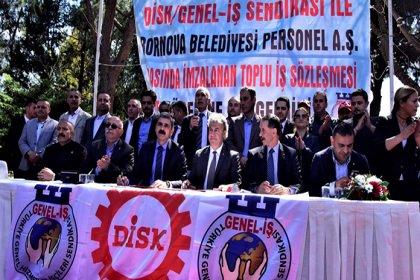 Bornova Belediyesi'nde toplu sözleşme imzalandı