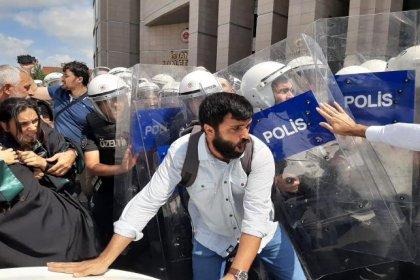 Çağlayan'daki kayyum protestosuna müdahale