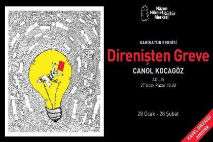 Canol Kocagöz'ün 'Direnişten Greve' karikatür sergisi NHKM'de