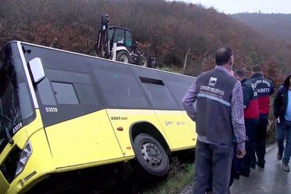 Çekmeköy'de İETT otobüsü yan yattı: 1 ölü 11 yaralı