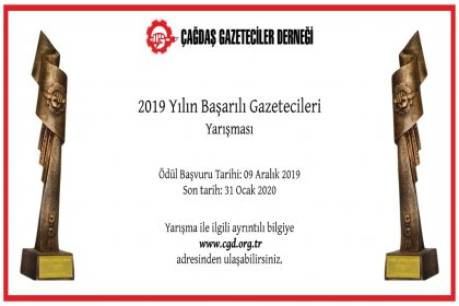 ÇGD 'Yılın Başarılı Gazetecileri' yarışmasına başvurular başladı