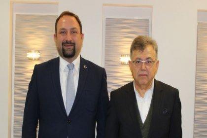 CHP Çiğli Belediye Başkan adayı Gümrükçü'den İAOSB Başkanı Uğurtaş'a ziyaret