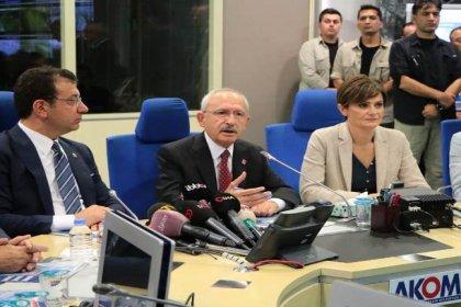 CHP Lideri Kılıçdaroğlu, AKOM'u ziyaretinde İBB Başkanı İmamoğlu'ndan bilgi aldı