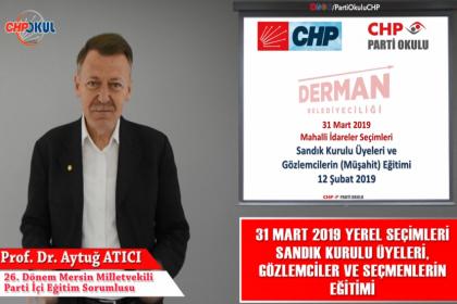 CHP Parti Okulu'ndan 'Sandık Güvenliği Eğitimi'