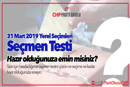 CHP Parti Okulu'ndan 'Seçmen Testi'