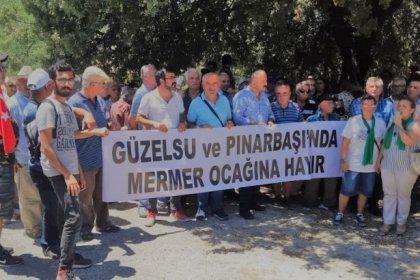 CHP'li vekiller, Akseki'ye açılmak istenen mermer ocağını Meclis'e taşıdı