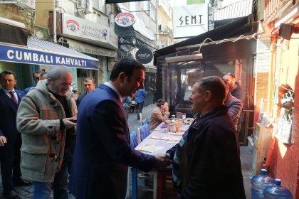 CHP'nin Beşiktaş adayı Rıza Akpolat, Çarşı'da esnafı ziyaret etti