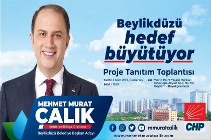 CHP'nin Beylikdüzü adayı Mehmet Murat Çalık'ın proje tanıtım toplantısı 2 Mart'ta yapılacak
