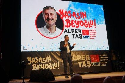 CHP'nin Beyoğlu adayı Alper Taş, projelerini açıkladı: 'Biz çoğunluğuz, biz halkız, yalnızca biz istersek değişir yarınlar'