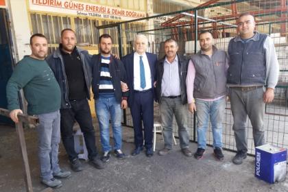 CHP'nin Burhaniye adayı Ali Kemal Deveciler, esnafla buluştu
