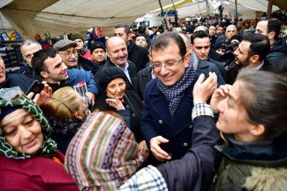 CHP'nin İstanbul Adayı Ekrem İmamoğlu Ümraniye'de halkla buluşuyor