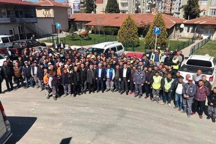 CHP'nin Kırklareli Belediye Başkan Adayı Mehmet Tuna Soykan belediye çalışanlarıyla bir araya geldi