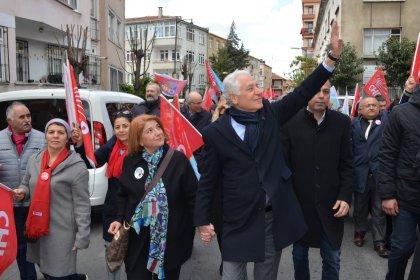 CHP'nin Şişli Belediye Başkan adayı Muammer Keskin'den 'Bahar yürüyüşü'